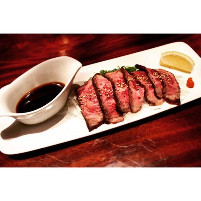 Beef Tataki.