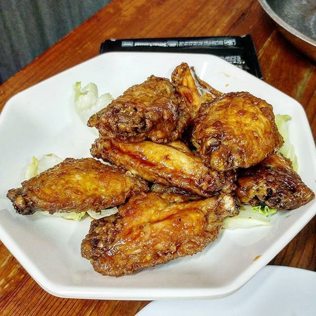 Marmite Chicken, one of the side dishes we ordered with the frog's leg porridge.