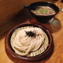 Cold Udon, Hot Beef Soup