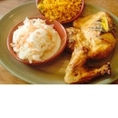 Mild 1/4 Chicken With Spicy Rice And Coleslaw