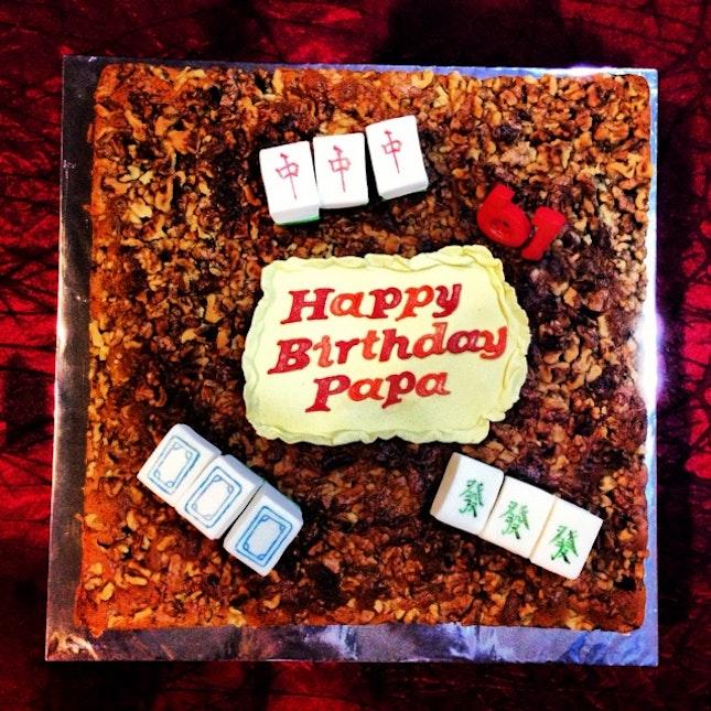 Daddys Homemade Mahjong Birthday Cake By Vanessa