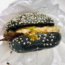 Salted Egg Burger [$8]
