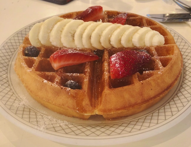 Fluffy Buttermilk Waffles [$10.90++]