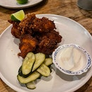 FRIED CHICKEN - pickles, toum garlic whip [$24++]