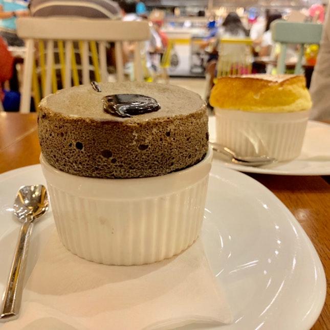 Kuro Goma soufflé (Black Sesame Soufflé)