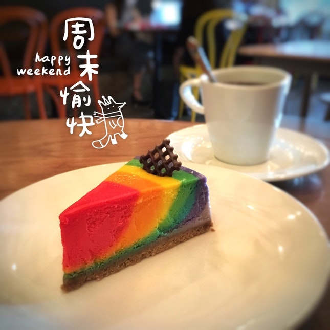 Rainbow Cheese Cake