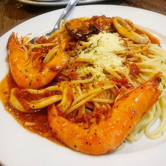 Seafood Marinara ($10.90)  Aesthetically pleasing dish!