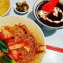 Wanton black sauce noodle.