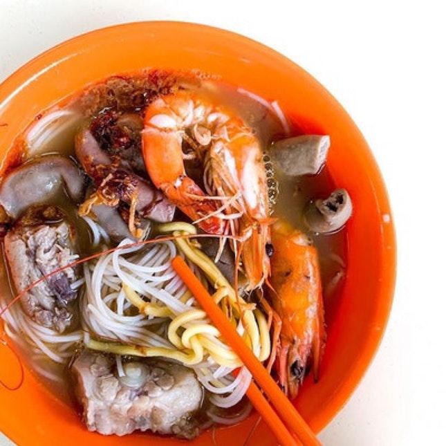 Pork Ribs & Prawn Noodle ($5)
