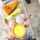 Custard Egg Tart ($0.90), Kueh Kosui ($0.80)