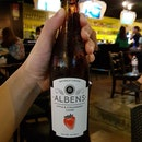 Interesting cider -- tasted more alcoholic than sweet.