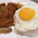 Hainanese Pork Chop Rice With Egg