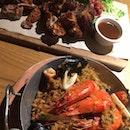 Pork Knuckle And Seafood Paella