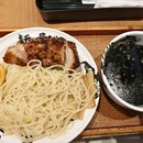 First time to have tsukemen with meat.