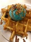 refreshing Icecream in Crispy Waffles