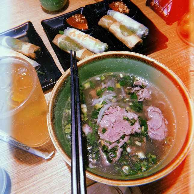 Beef Pho [Lunch Set @ $10.90]