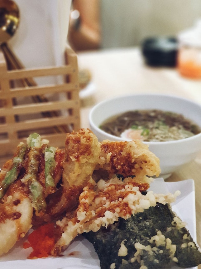 Chicken Tempura Bowl With Soba [$12.80++]