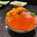 Tuna Forehead Ikura and Uni mini dish