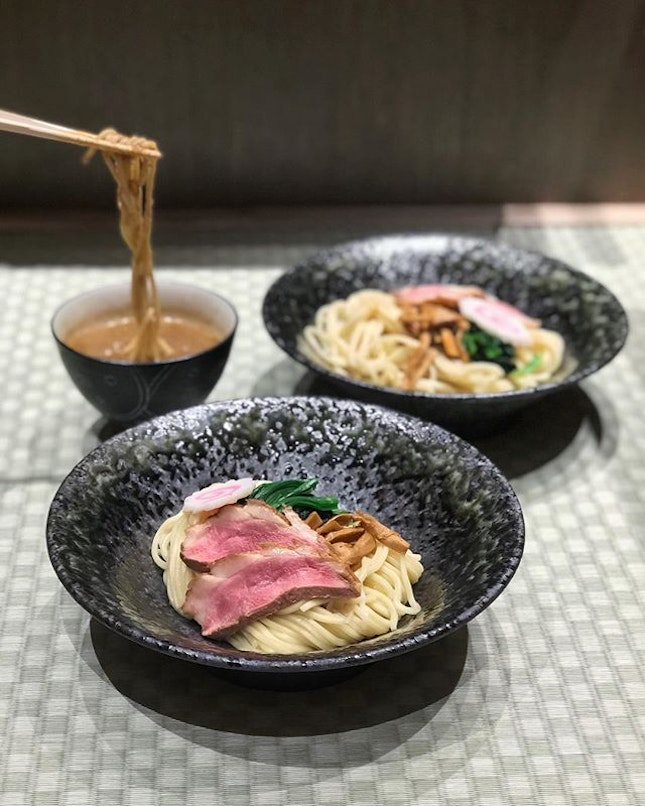Hybrid Duck Tsukemen (Dipping Noodles)[$14.90]With flavoured egg [$16.90]Special [$19.90].
