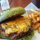 Matcha Bun Salted Egg Chicken Thigh Burger 🍔🍟 #EverythingAlsoSaltedEgg #alinaeats #onthetable #burpple #vsco #vscocam #vscofood #whati8today #foodies #foodgasm #foodphotography #foodporn #foodstagram #eatoutsg #sgvsco #vscosg #igsg #sgig #webstagram #f52grams #matcha #burger  #saltedeggyolk #먹스타그램