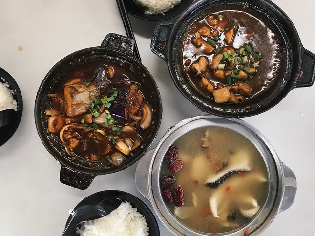 hearty claypot meal