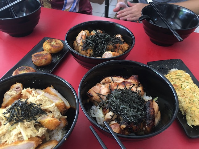Trriyaki, Chicken Karrage Dons And Side Dishes