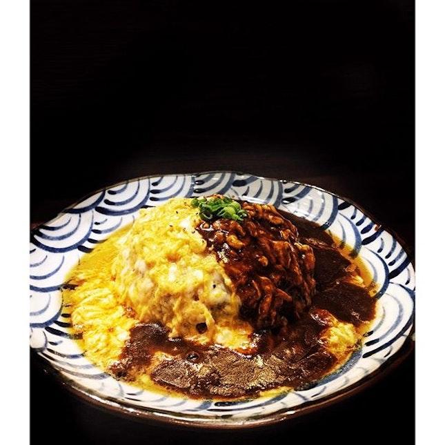One of the hidden stars here: omelette rice!