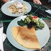 Garlic Mushroom and Mozzarella Cheese Crepe