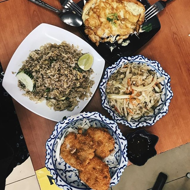 yummy and affordable thai food at tpy hub — the prawn cakes were absolute bomb.