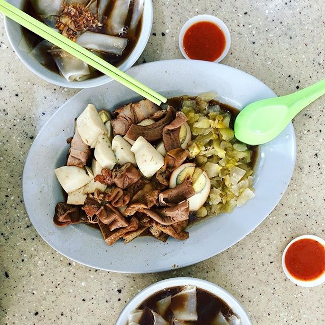 Kway chap for breakfast :) The soup/broth is good and also, the portion is very generous.