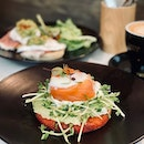Le Smoked Salmon Rosti ($23) - beetroot potato rosti with smoked salmon and ikura.