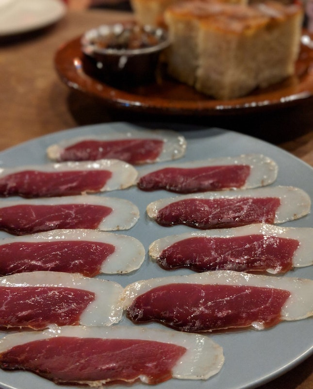 House-cured Duck Prosciutto ($16)