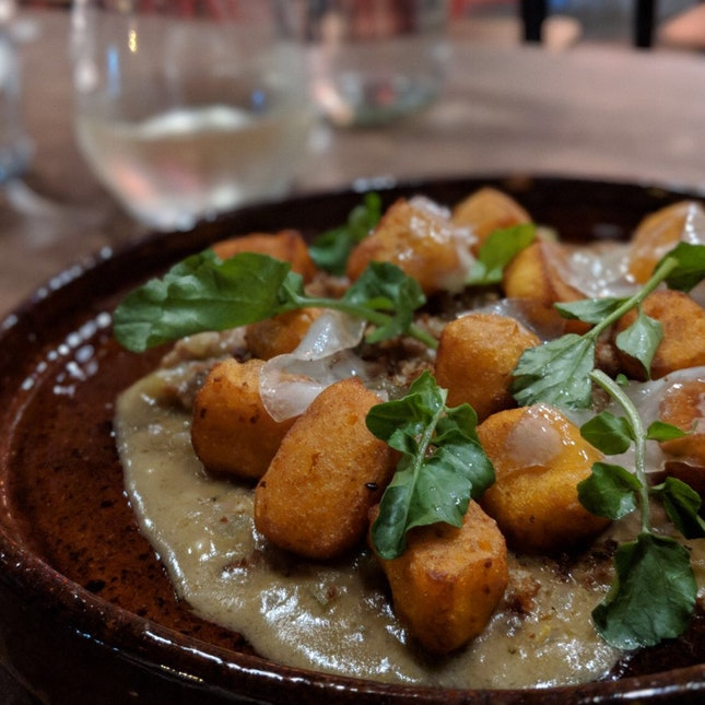Sweet Potato Gnocchi, Pork Ragu & Gremolata ($32)