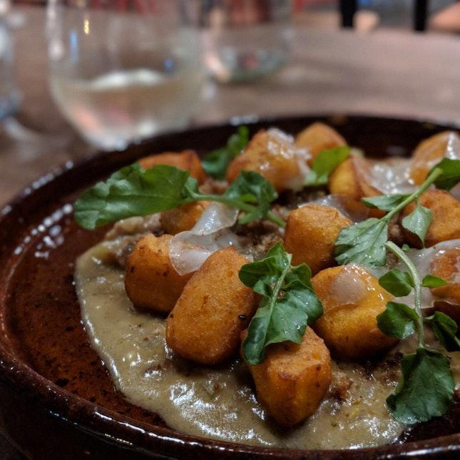 Sweet Potato Gnocchi, Pork Ragu & Gremolata ($32)