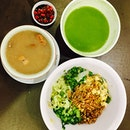 Healthier options- Thunder Tea Rice (擂茶饭) and lotus root pork ribs soup!