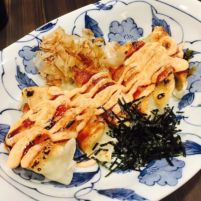 These mentaiko gyoza were delicious!!