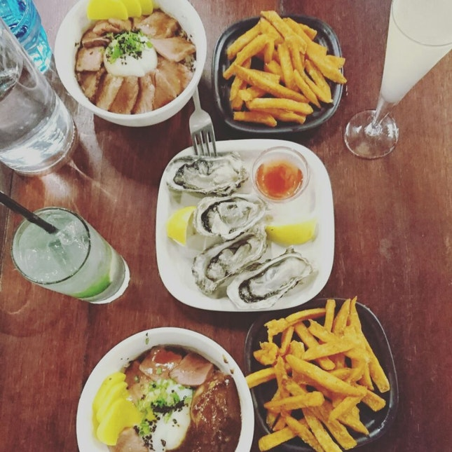 Great side dishes and oysters