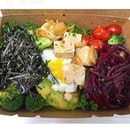 SENATE COFFEE --------------- SALAD BOWL --------------- Super greens with kale and broccoli, marinated silken tofu, beetroot and herb salad, cherry tomatoes, poached egg, avocado and nori seaweed!