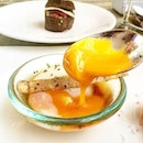 CHIHULY LOUNGE --------------- EGG COCOTTE --------------- Summer high tea with Onsen egg, sweet potato puree and bonito jus.