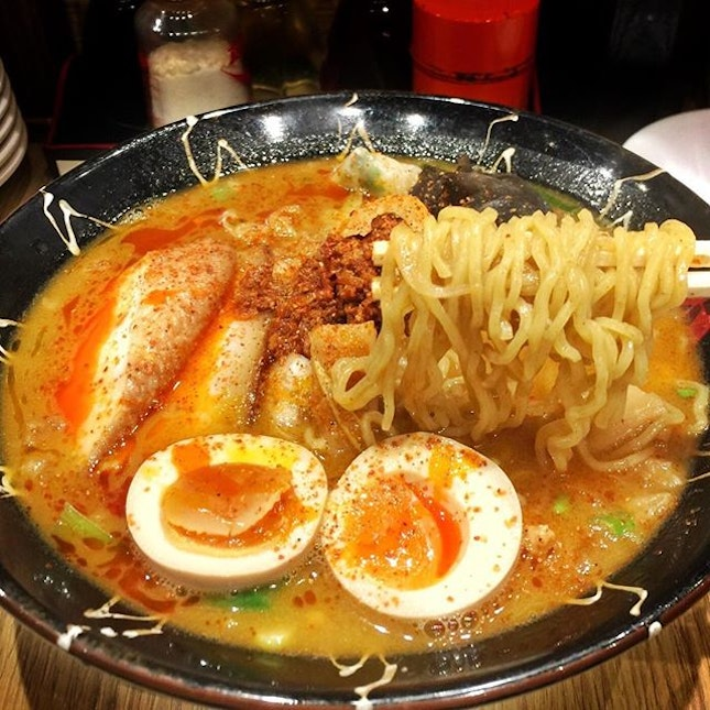 Spicy Miso Lobster Broth Ramen ☻☻☻☻☻☻☻☻☻☻ I want my ramen nooooooow.