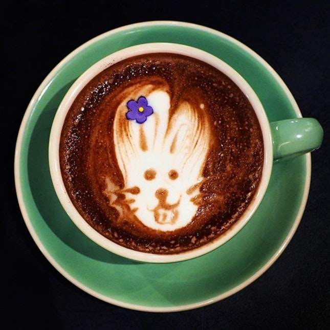Bunny Hot Chocolate ☻☻☻☻☻☻☻☻☻☻ 🐰🐰🐰🐰🐰 Craving for bunnies...