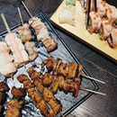 Sumire Yakitori Platter 12 Skewer 🍢🍡 ($29.80) || Aburi Salmon Mentaiko Mayo Roll🥢🥢 ($16.80) ⁣ ⁣ Craving for some beer or drinks over dinner while chilling?