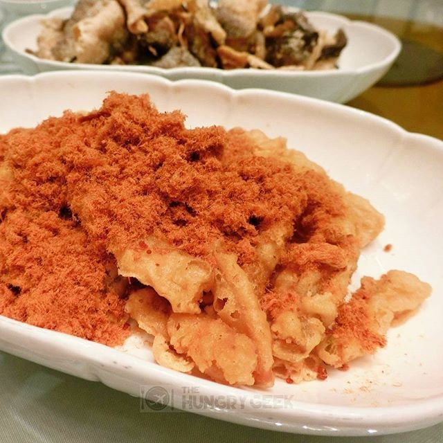 Deep Fried Egg Plant with Pork Floss Can I have one more please!