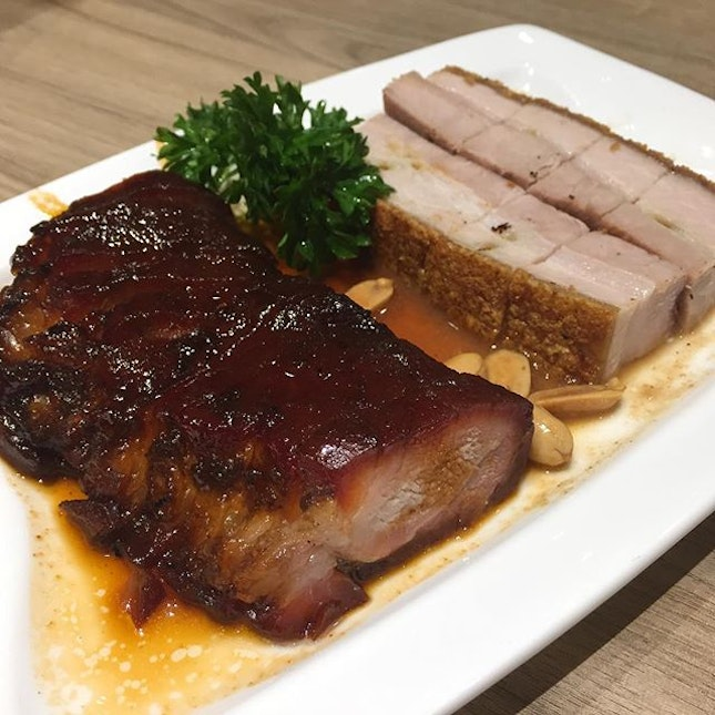 BBQ Pork with Honey Sauce and Crackling Pork Belly ($20.80) 🐷 This was the only disappointing dish among all our order.