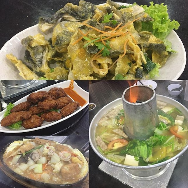 Cheap & Good Zi Char in an air conditioned coffee shop for a simple BD celebration for SIL.
