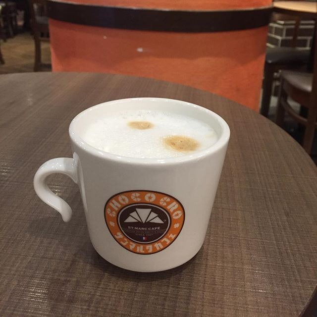 Caffe Latte ($5) ☕️ Usual caffeine dose even without latte art.