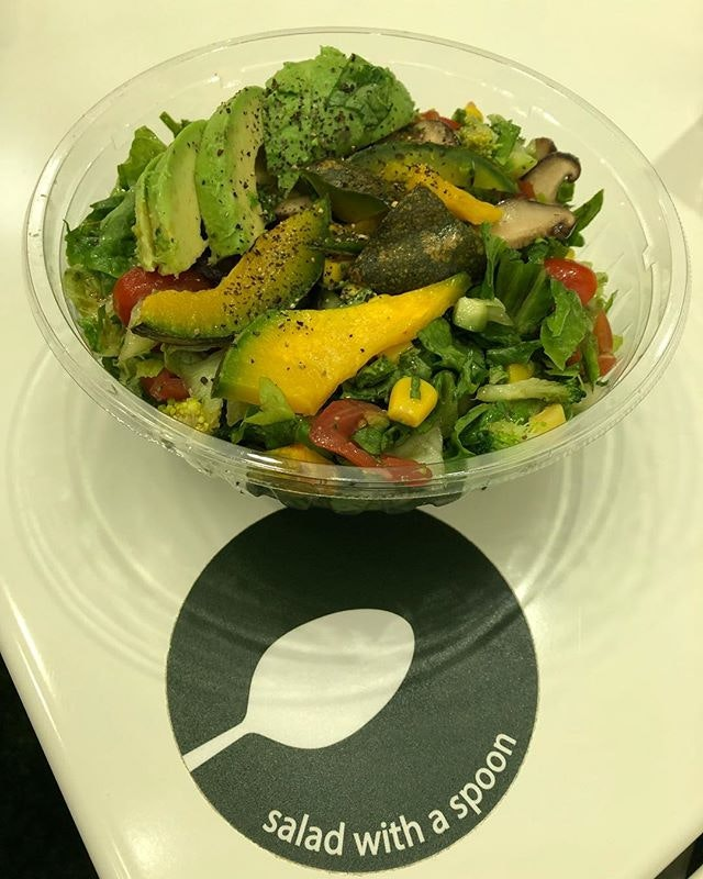 Healthy Avocado Mushroom Salad with Balsamic Vinegar Dressing ($11.50) 🥗 Shiitake Mushroom.