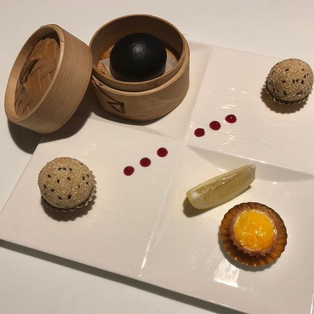 Chinese pastry platter of 4 items ($12) .