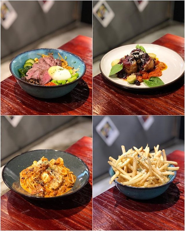 Wagyu Beef Grain Bowl ($20) - tender beef slices with quinoa & pearl barley.