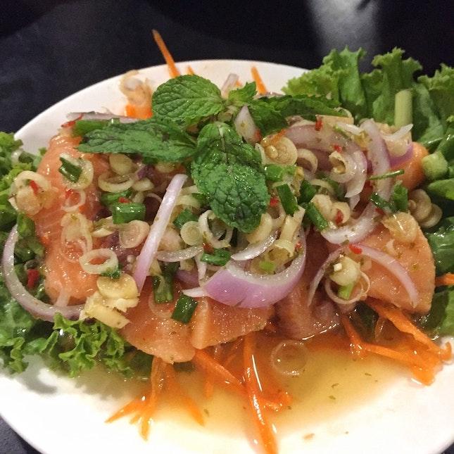 Salmon Sashimi ($12)